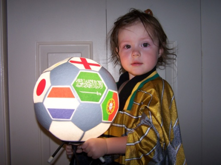 Michi Vojta's daughter during the 2010 World Cup