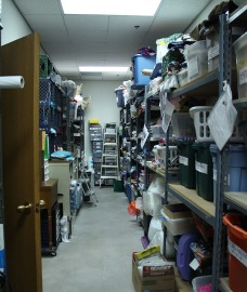 Due to the size of the group and the amount of things they make, the Tempe Needlewielders group has its own room in the Pyle Adult Recreation Center for storing materials and projects. (Photo by Hannah Dickens)