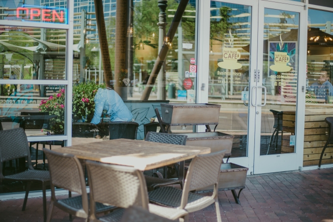 Fair Trade Café is a locally owned downtown Phoenix coffee shop with two locations. (Photo by Torres Multicultural Communications)